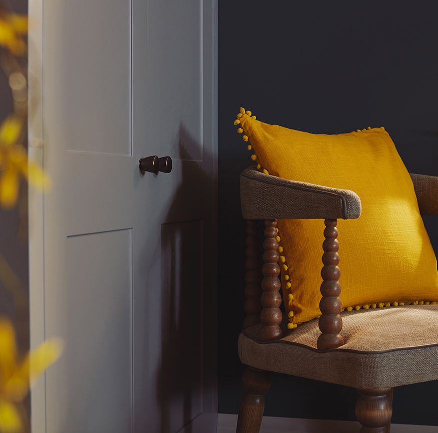 Easter Kindred style with yellow cushion