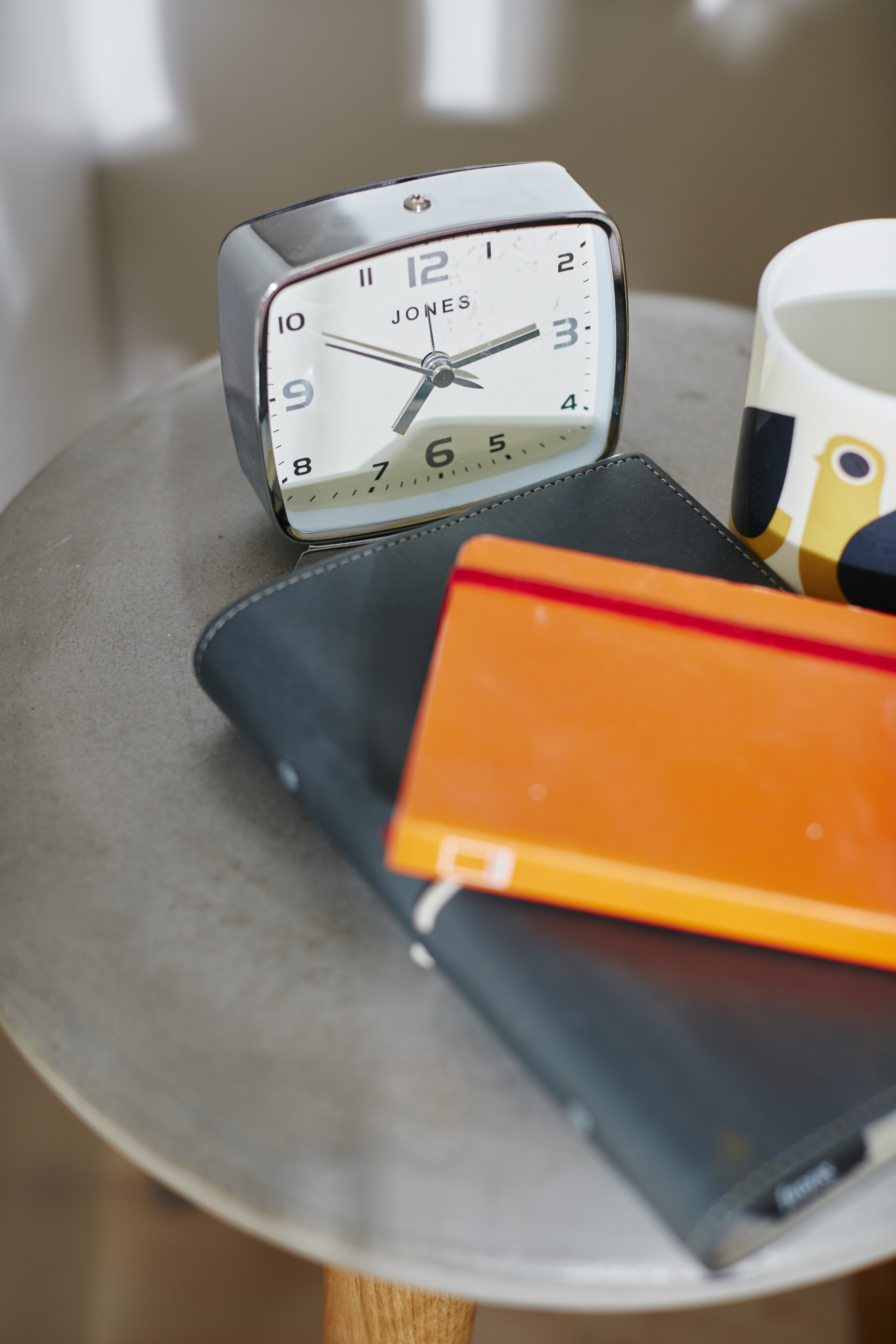 Bold orange notebook provides Spring accents