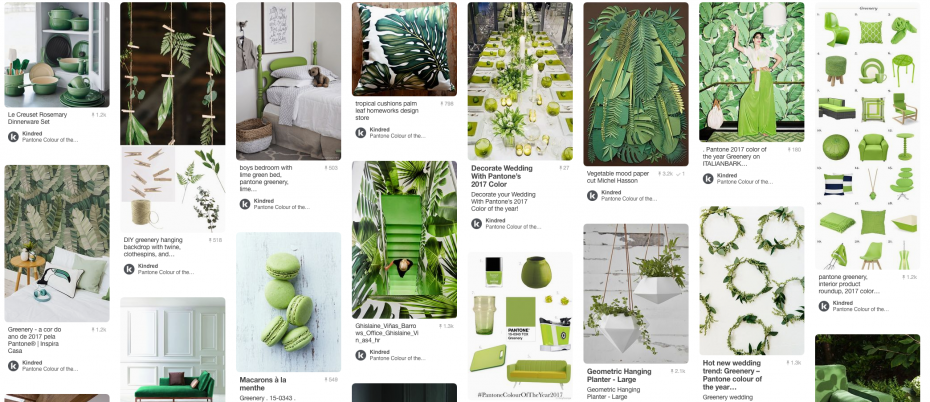 Green Pinterest board perfect for Spring