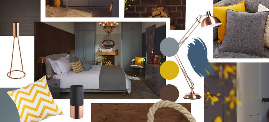 A mood board for our House Beautiful nominated Esker Style 1 range