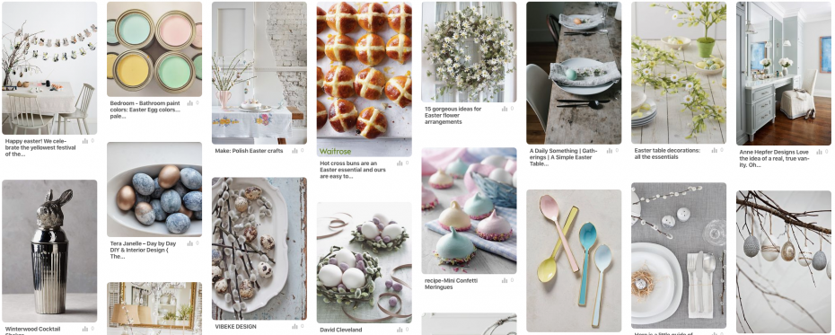 Pinterest board of things to this Easter weekend inspiration